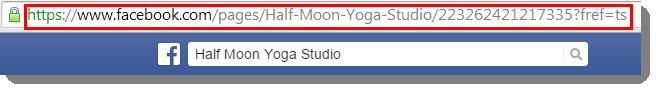 copy FB business page URL