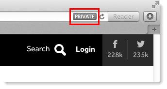 Private in address bar