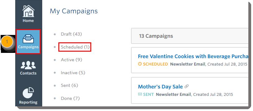 Campaigns Button