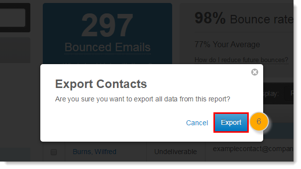 export to confirm