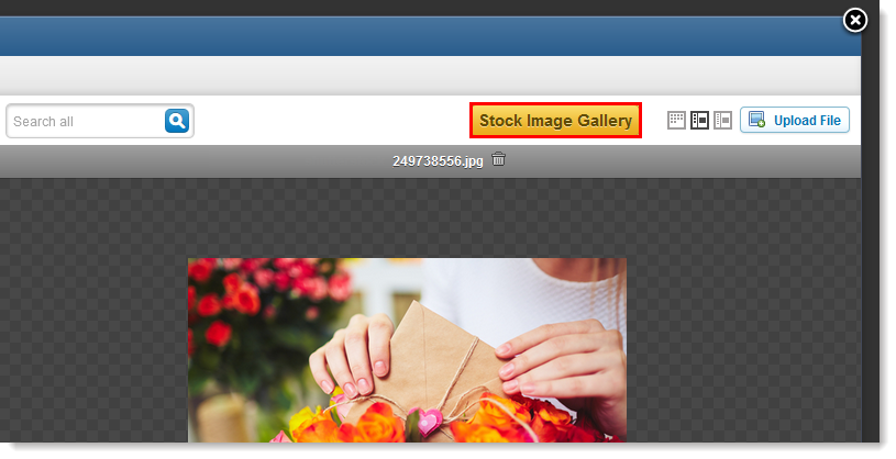 Stock Image Gallery Button