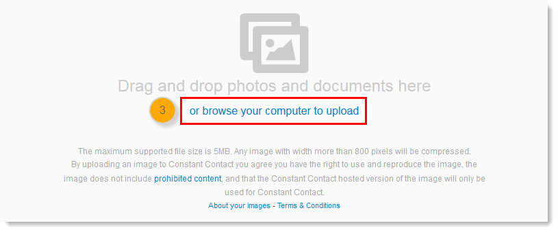 Image Upload Overlay