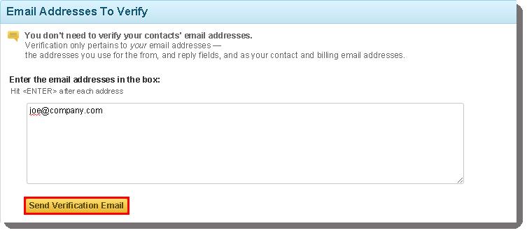 Send Verification