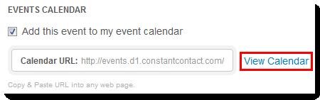 View Calendar Link