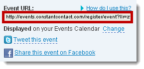 event URL