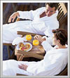 couple in robes