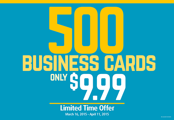 Get 500 business cards for 999 until april 11 at the ups store come into our center or visit us online at store6144upsstoreprint to take advantage of this great deal weve got hundreds of unique templates to colourmoves