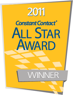 Our Newsletter results are ranked among the top 10% of Constant Contacts customer base