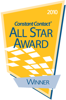 Constant Contact All Star award 2010 Winner