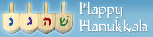 Dreidles & Happy Hannukah
